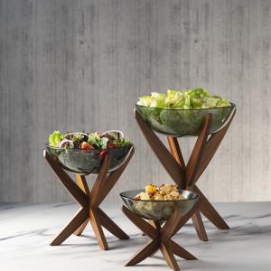Maya Handmade Glass Bowls w Zen Stand
